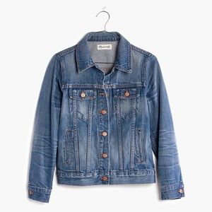 NWT! MADEWELL Jean Jacket in Printer Wash